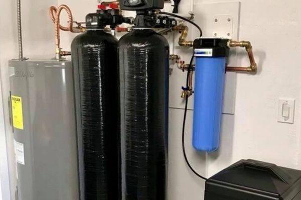 Waterontharder voor bronwater met ijzer